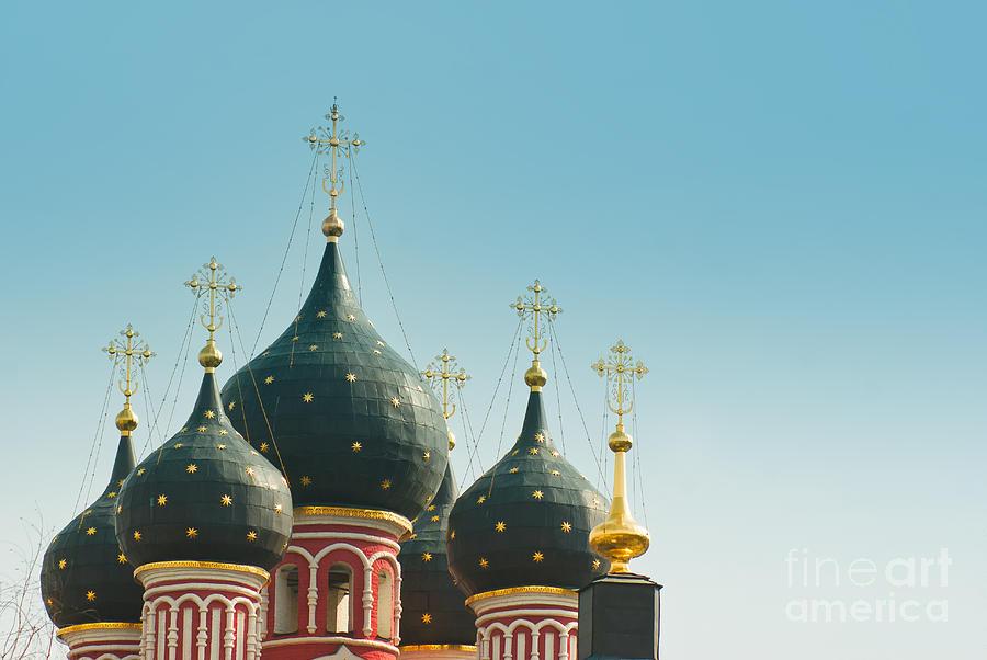 Orthodox Photograph - Black Domes by Boris Suntsov