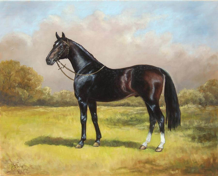 A Horse That Paints On Canvas