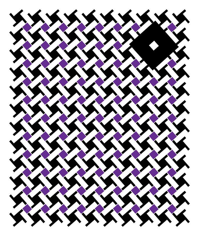 Abstract Digital Art - Black Flag 4. by Nancy Mergybrower