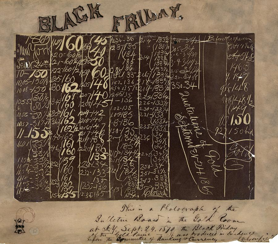 Black Friday Photograph - Black Friday Gold Prices, 1869 by Library Of Congress
