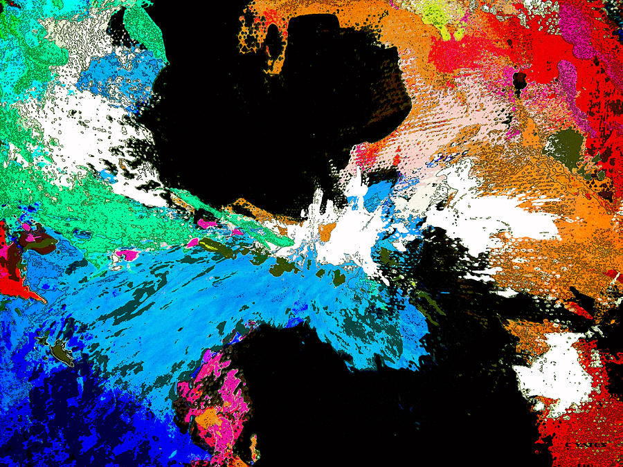 Abstract Painting - Black Holes by Charles Yates