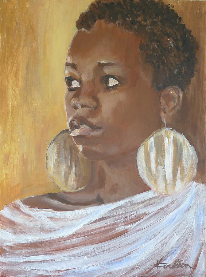 Portraits Painting - Black Lady by Veronica Coulston