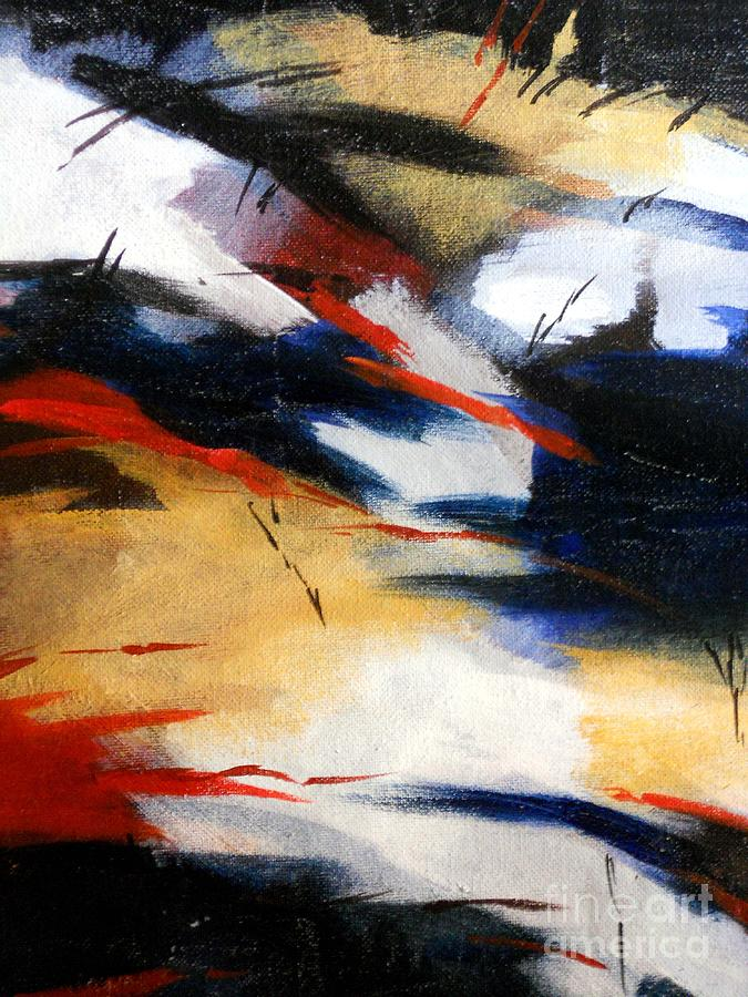 Landscape Painting - Black Night by Manish Verma