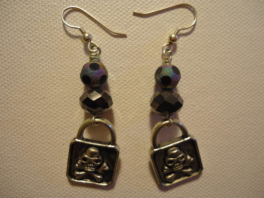 Greenworldalaska Photograph - Black Pirate Earrings by Jenna Green