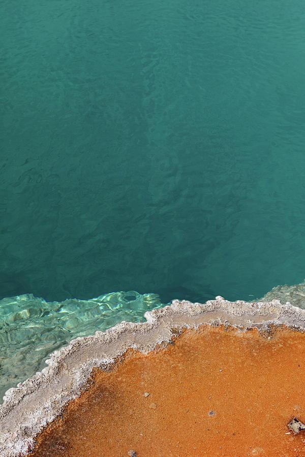Vertical Photograph - Black Pool by Andreina Schoeberlein