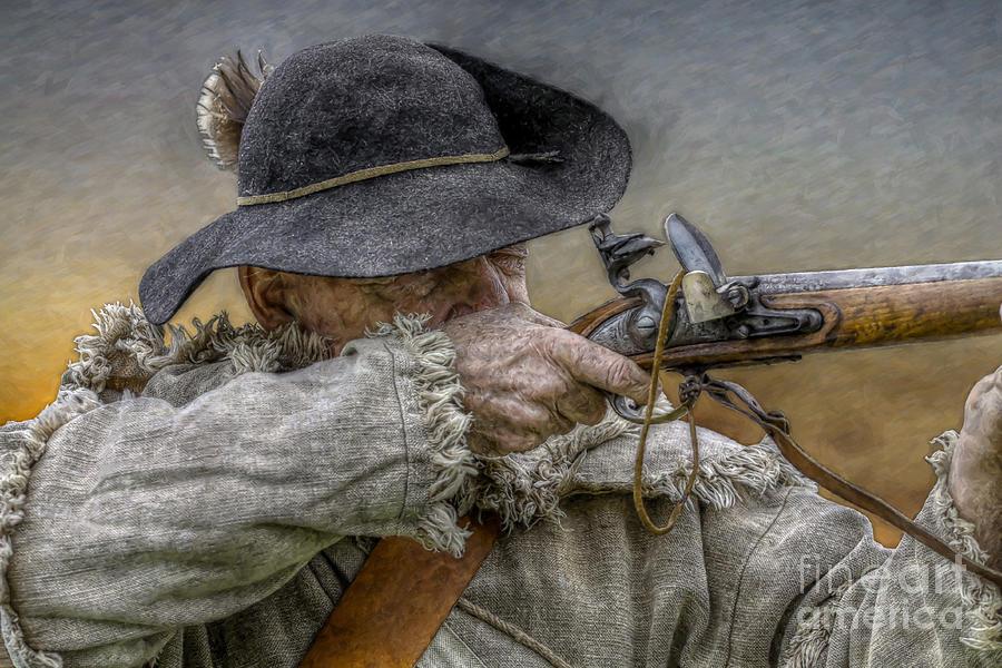Muzzleloader Digital Art - Black Powder Rifle by Randy Steele