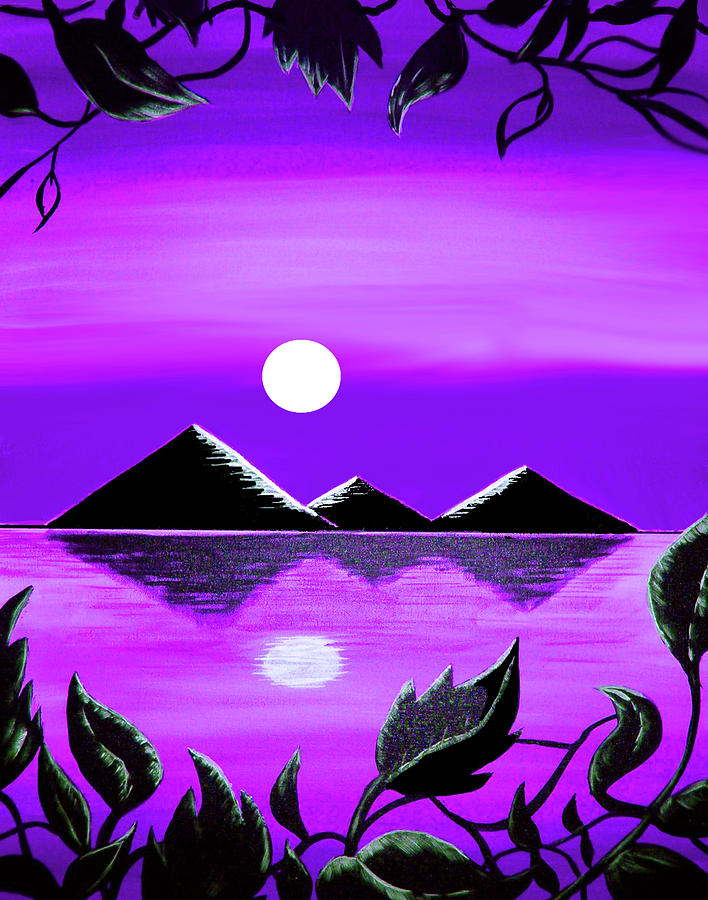 Black Pyramids On Nile 2 Painting By Steve Farr