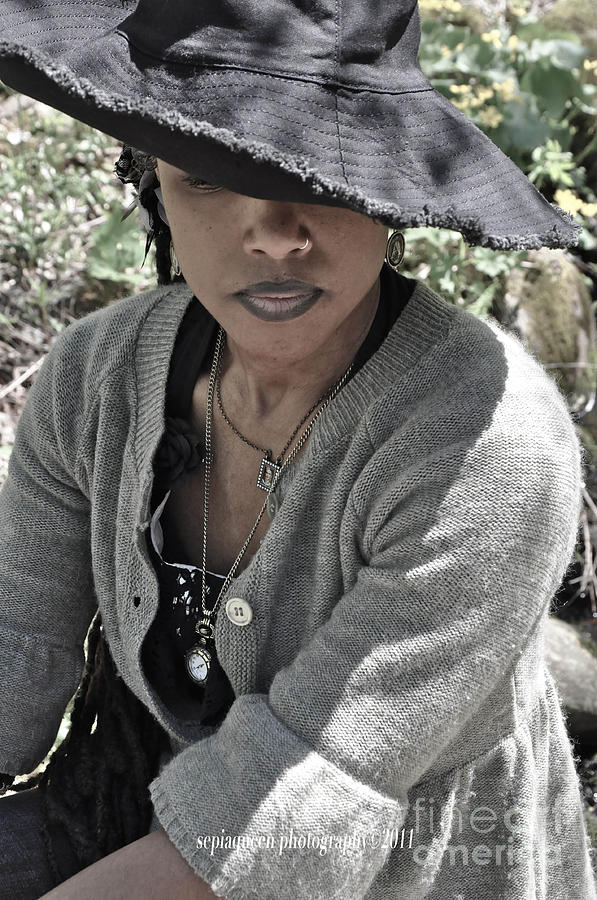 Black Sun Hat Photograph by Stephanie Morris