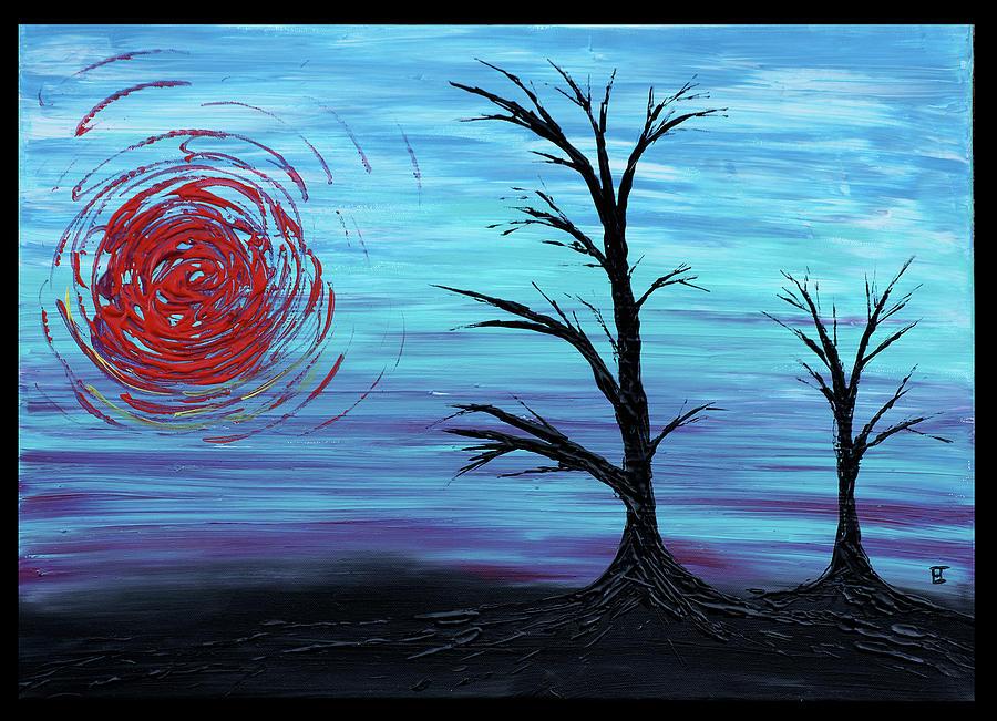 Tree Painting - Black Trees by Erik Tanghe