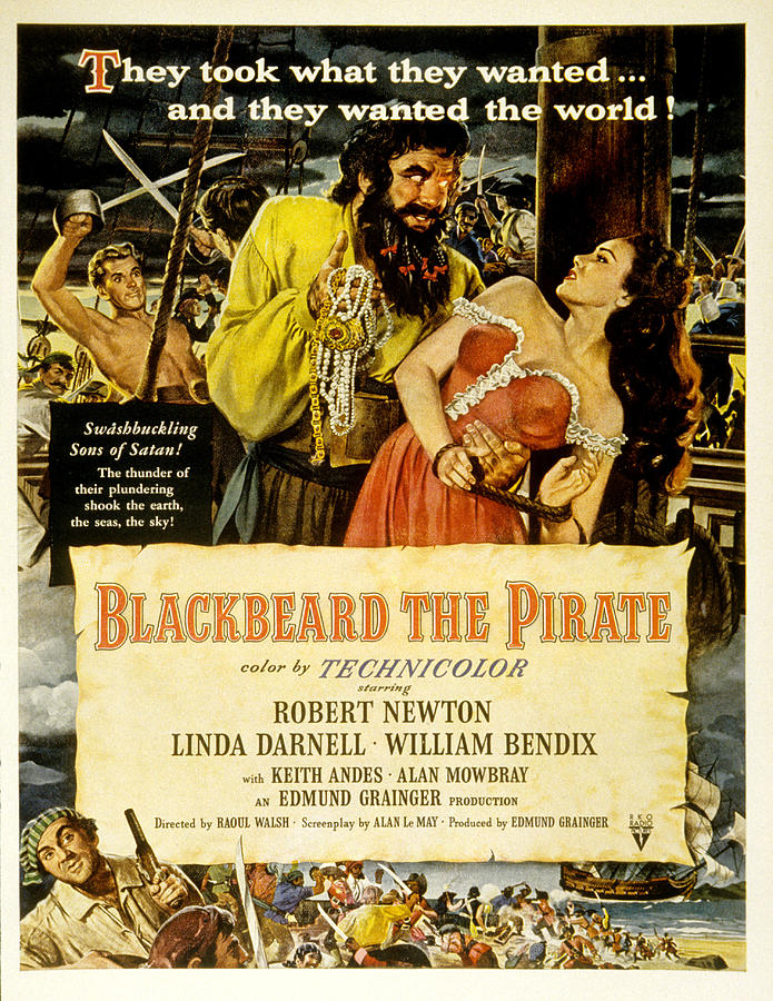 Andes Photograph - Blackbeard The Pirate, Poster Art by Everett