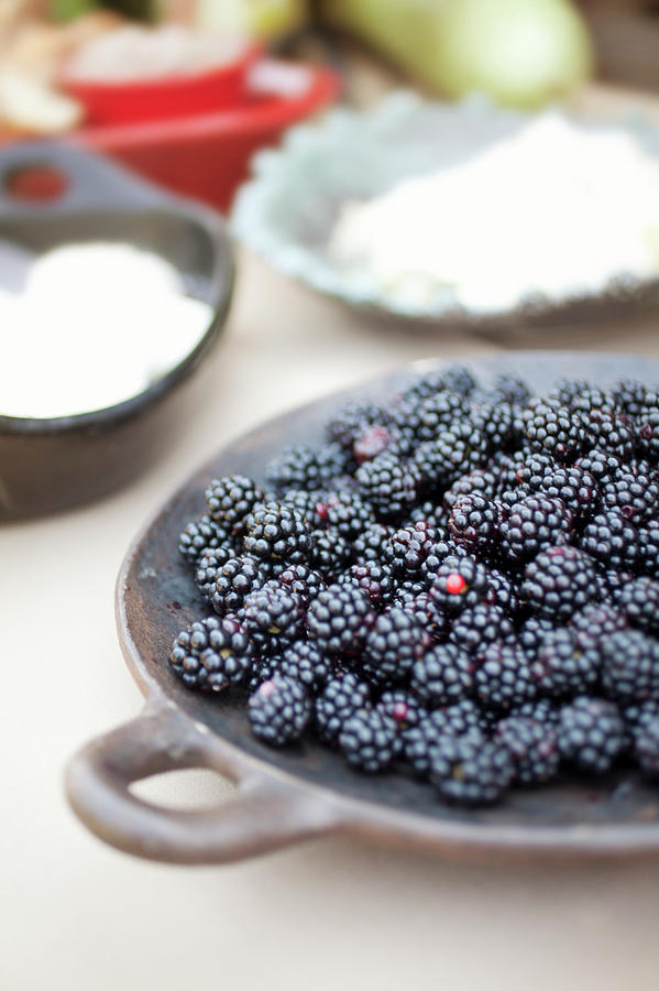Vertical Photograph - Blackberries by AE Pictures Inc.
