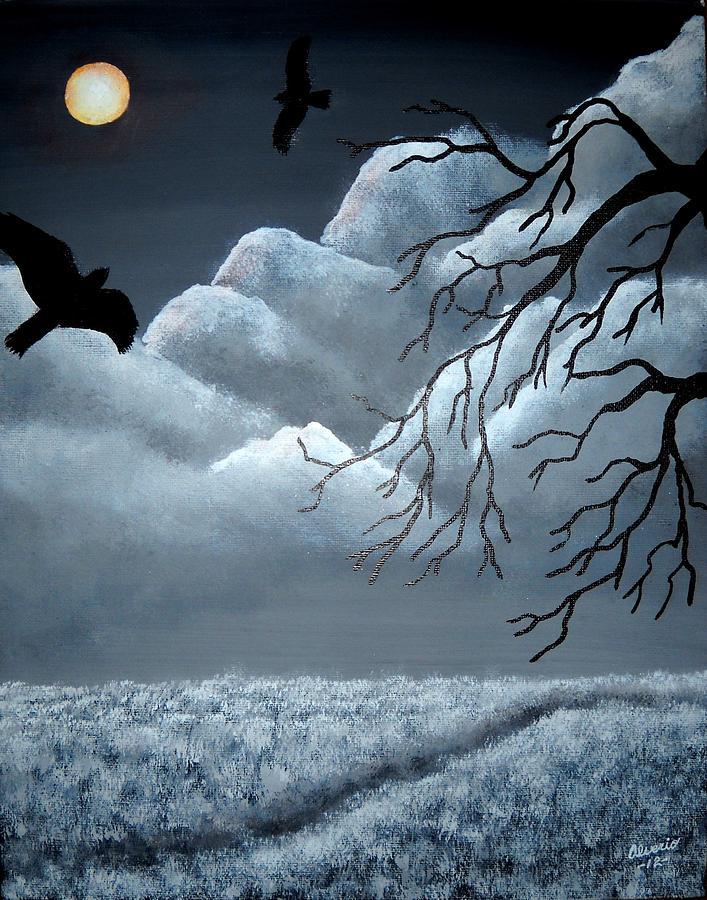 Blackbird Painting - Blackbird by Edwin Alverio