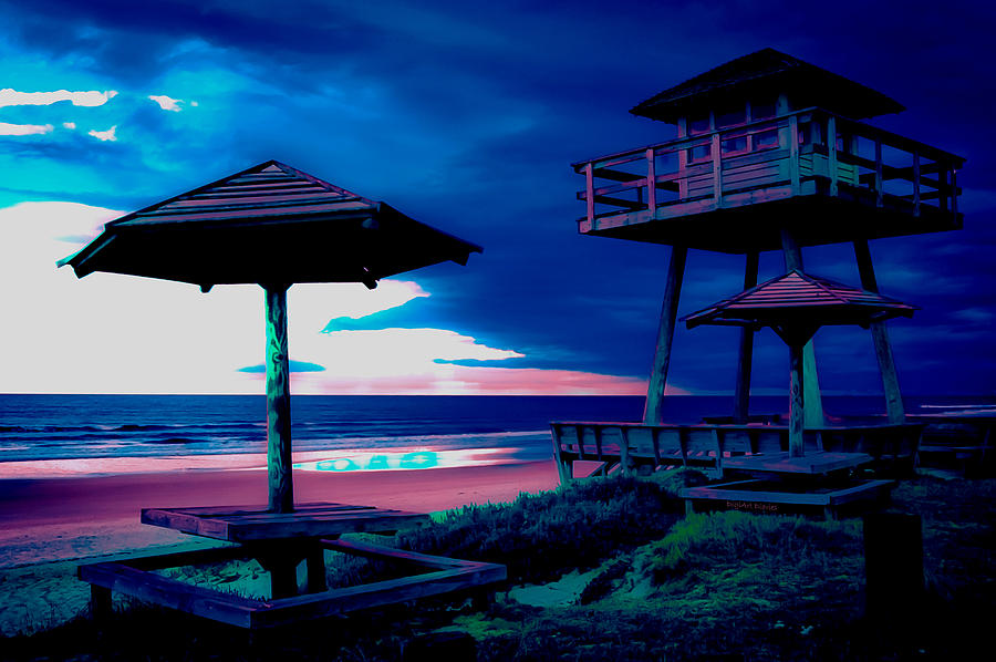 Tower Photograph - Blacklight Tower by DigiArt Diaries by Vicky B Fuller