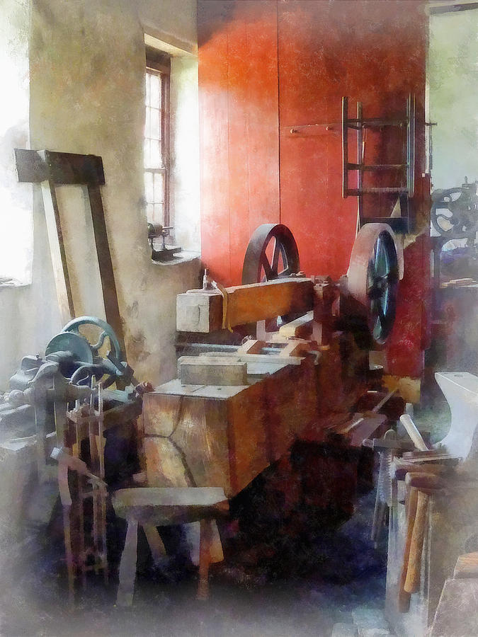 Blacksmith Photograph - Blacksmith Shop Near Windows by Susan Savad