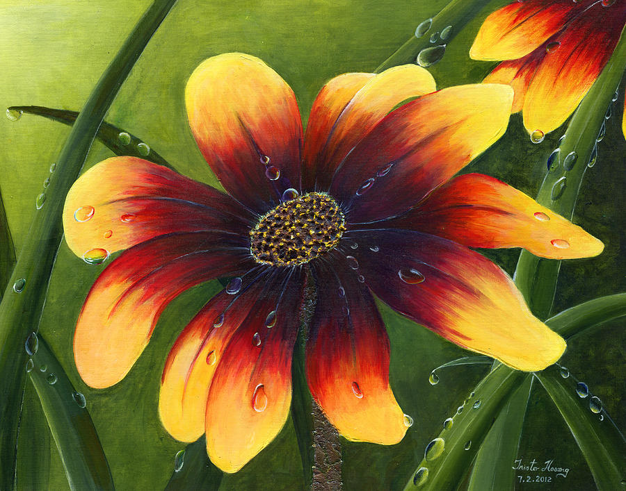 Flower Painting - Blanket Flower by Trister Hosang