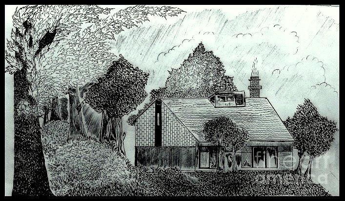 Blanket of leaves. Drawing by Deepak Kodapally