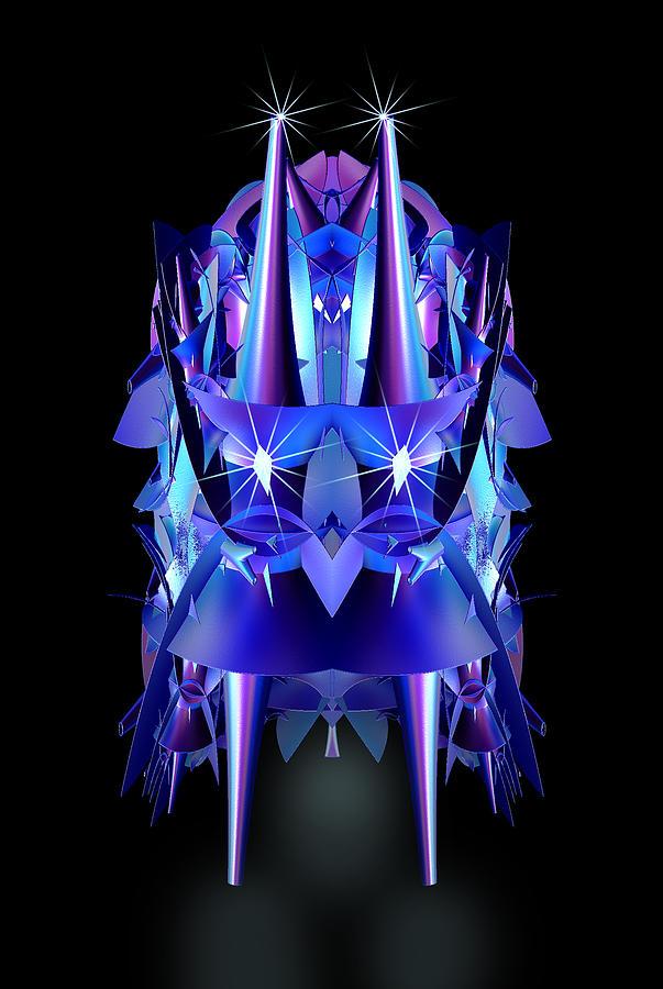 Abstract Digital Art - Blast Off by Linda Phelps