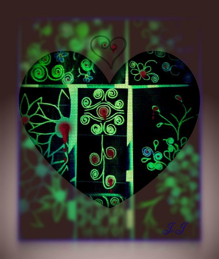 Mixed Media Digital Art - Bleeding Hearts by Jan Steadman-Jackson
