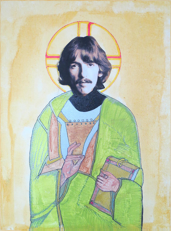 Beatles Painting - Blessed George by Philip Atkinson