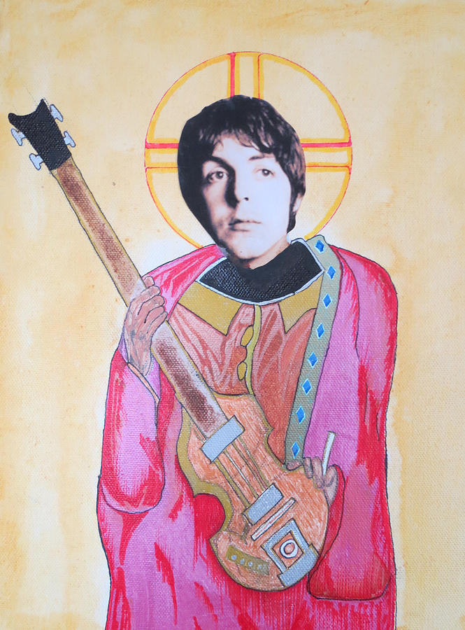 Beatles Mixed Media - Blessed Paul by Philip Atkinson