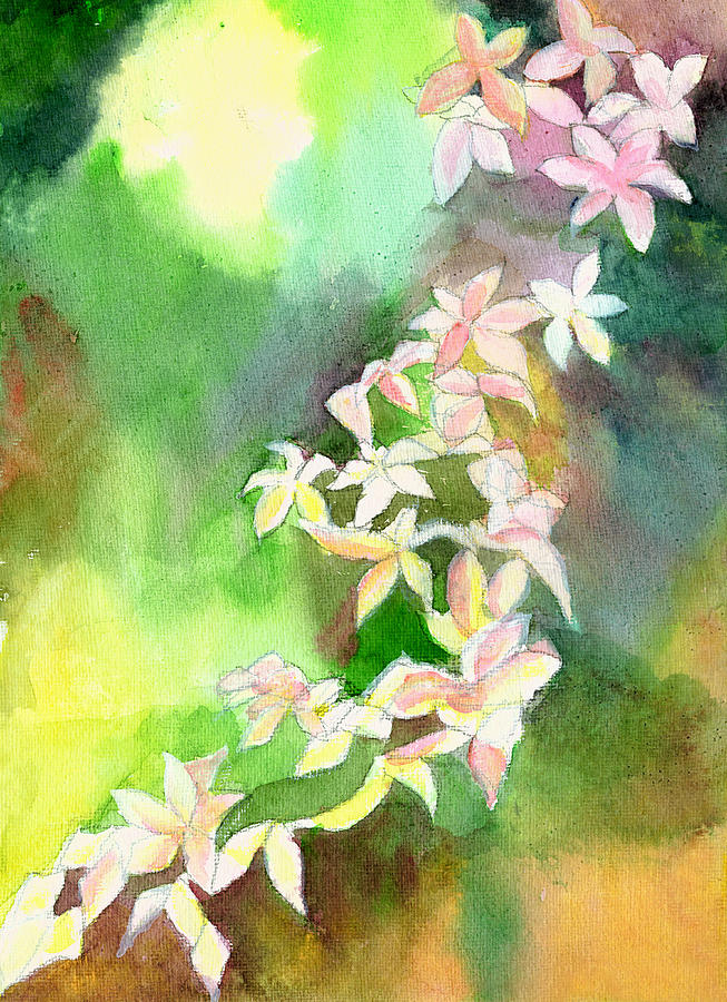 Floral Painting - Blessings 1 by Anil Nene