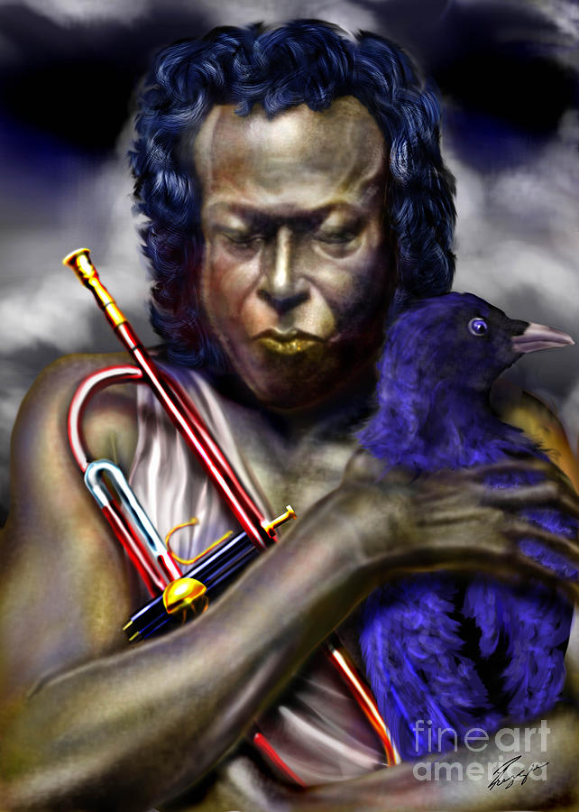 Miles Davis Painting - Blessings And Curses - Miles Davis by Reggie Duffie