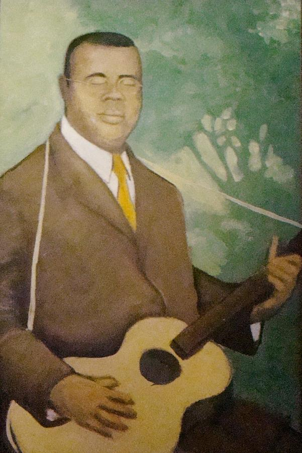 Blues Painting - Blind Lemon  by Mark Haley