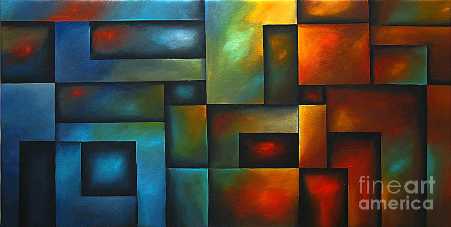 Abstract Painting Painting - Blinding Light by Uma Devi