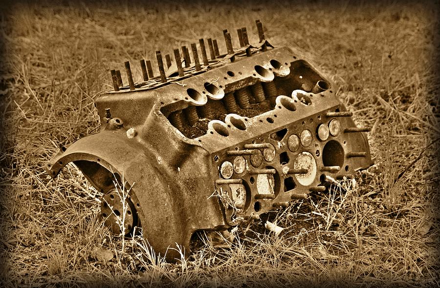 Engine Photograph - Blocked Out by Shane Bechler