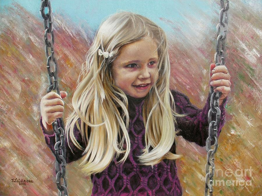 How To Paint Child S Blond Hair In Acrylic