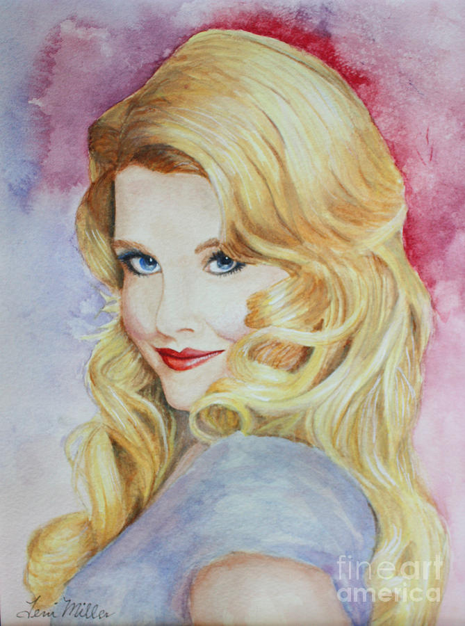 Blond Painting - Blond Pinup  by Terri Maddin-Miller