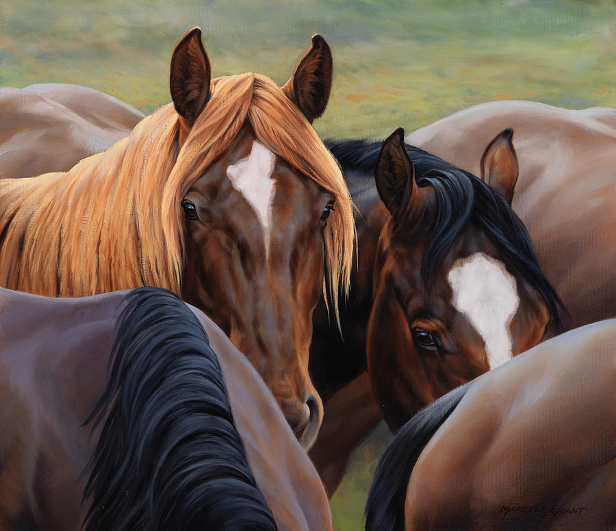 Michelle Grant Painting - Blonde Moment by JQ Licensing
