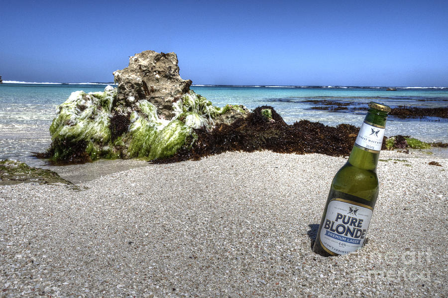 Beer Photograph - Blonde On The Beach  by Rob Hawkins