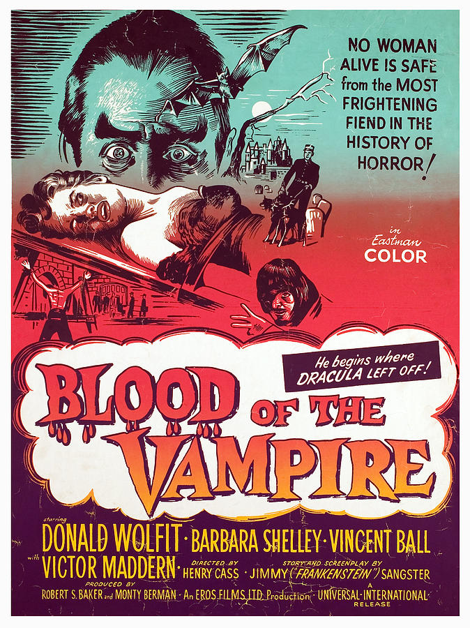 Horror Photograph - Blood Of The Vampire, Donald Wolfit by Everett