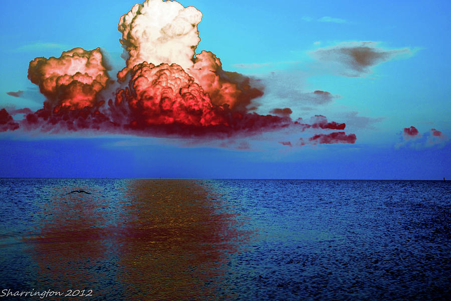 Colorful Photograph - Blood Red Clouds by Shannon Harrington