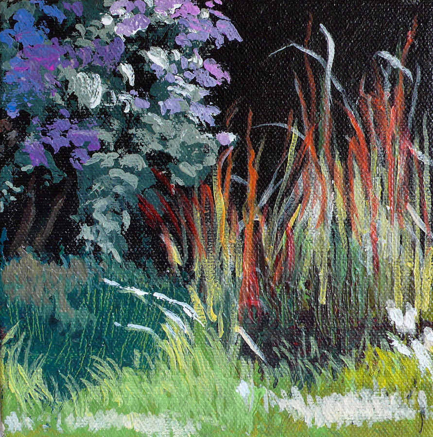 Floral Painting - Bloodgrass And Asters by Melody Cleary