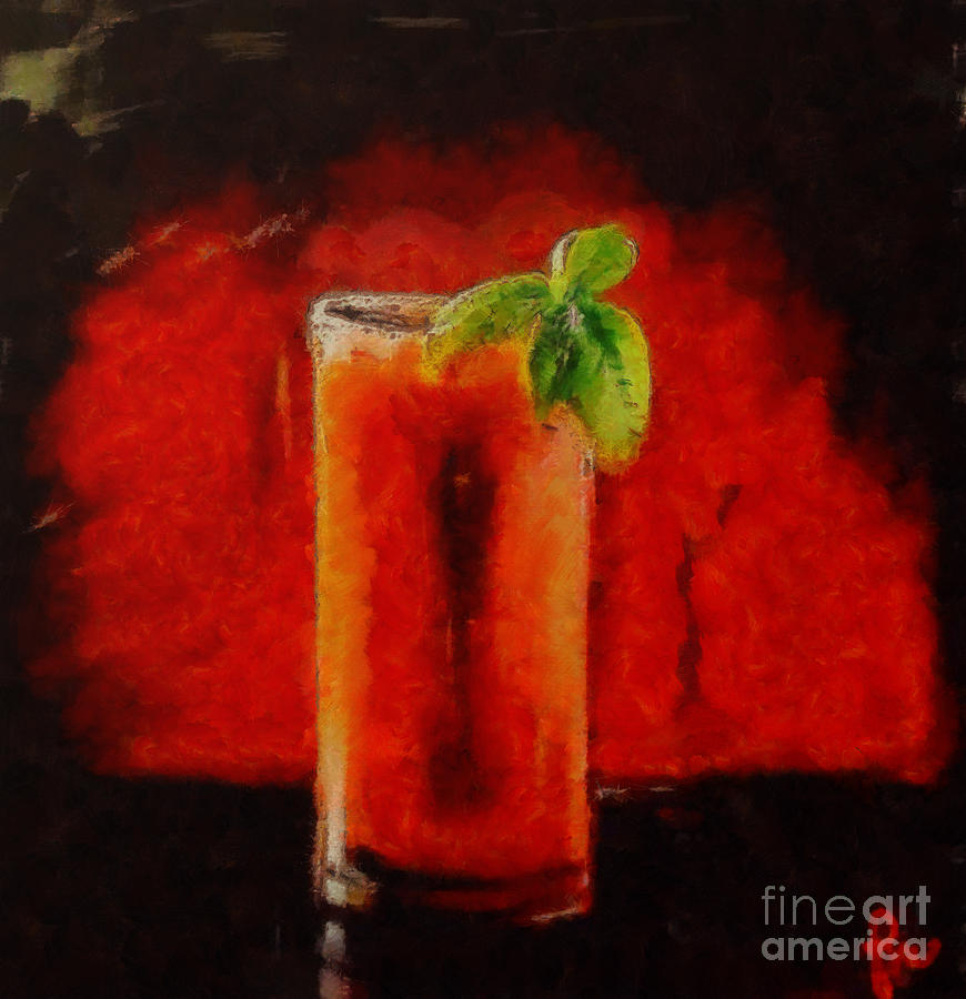 Coctail Painting - Bloody Mary Coctail by Dragica  Micki Fortuna