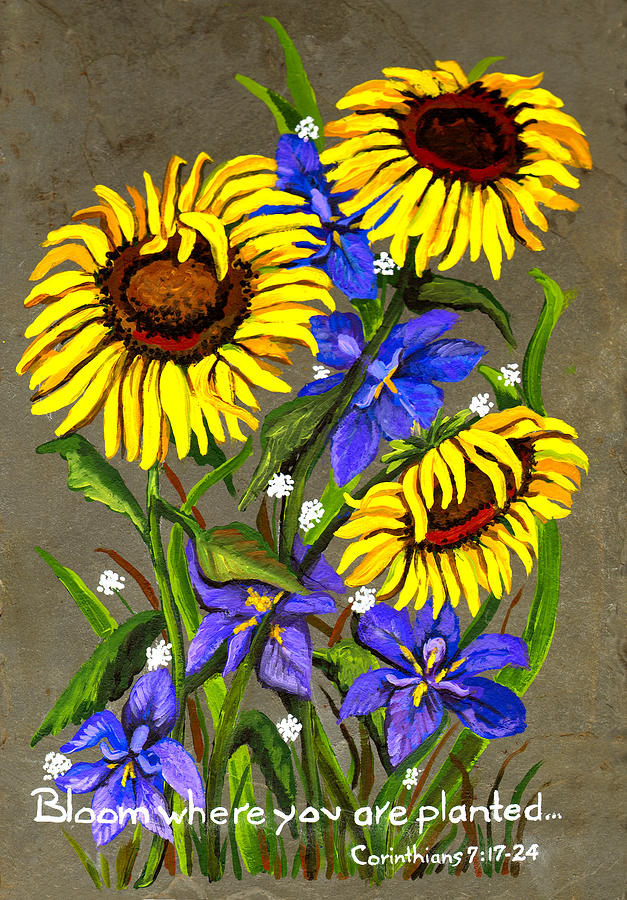 Flowers Painting - Bloom by Elaine Hodges