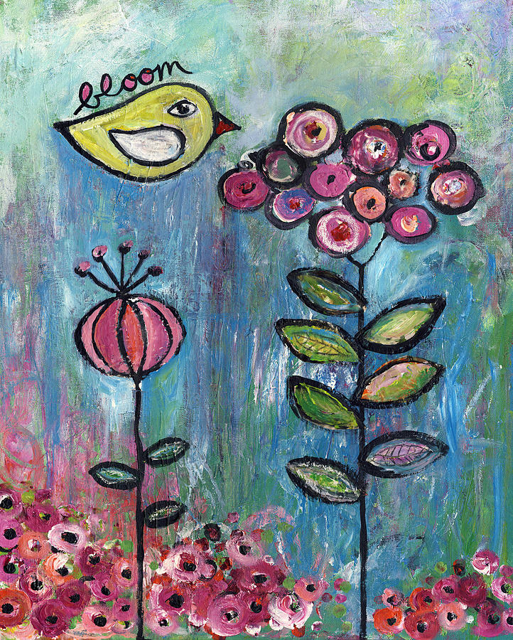 Acrylic Painting - Bloom by Susie Lubell