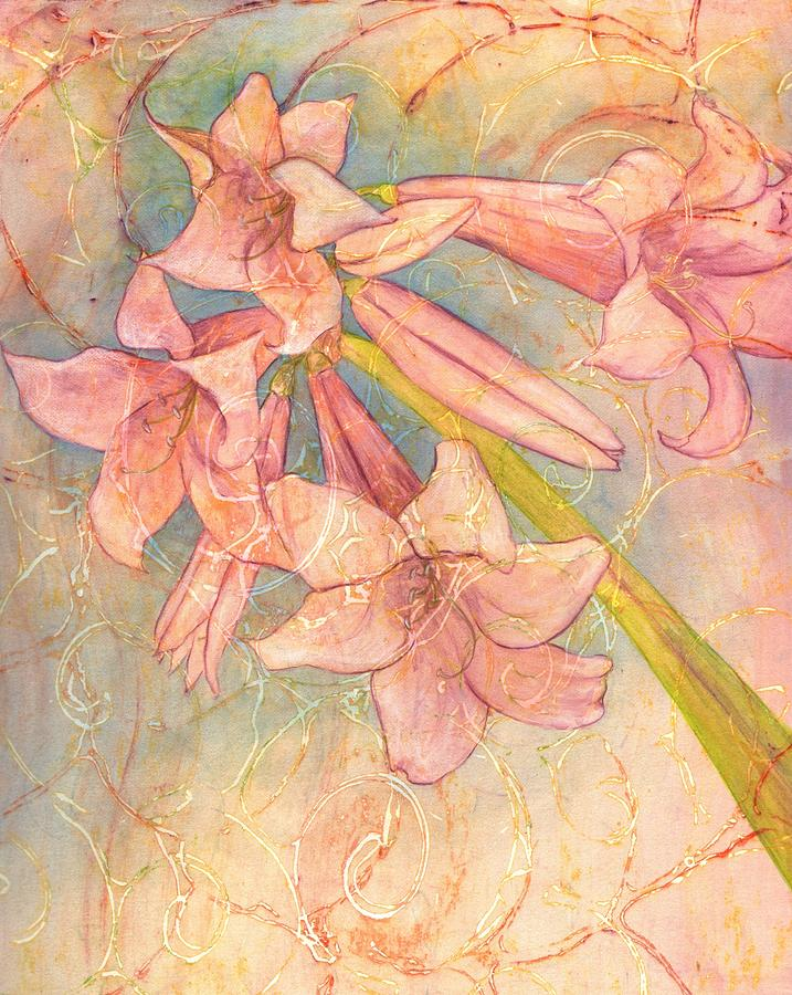 Flower Drawing - Blooming Above by Sara Bell