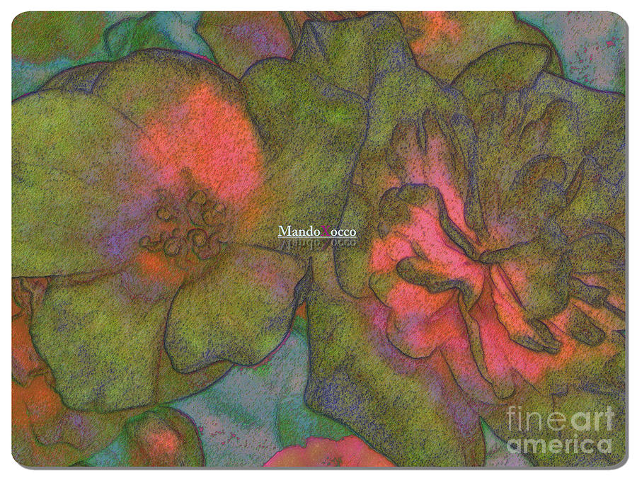 Floral Digital Art - Blooms Line by Mando Xocco