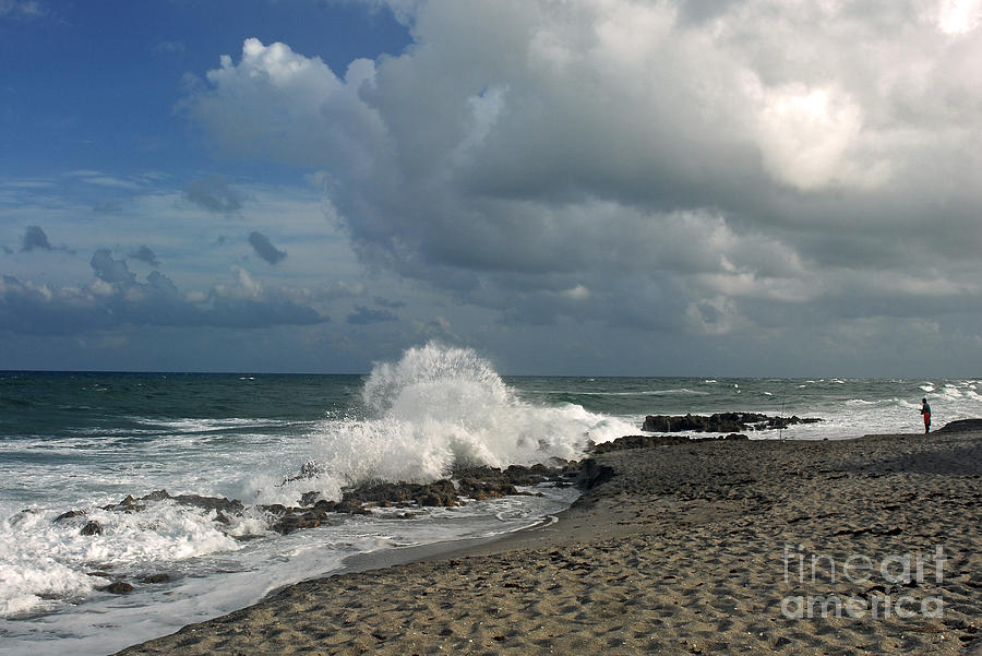 Stormy Waters Photograph - Blowing Rocks At Coral Cove by Richard Nickson