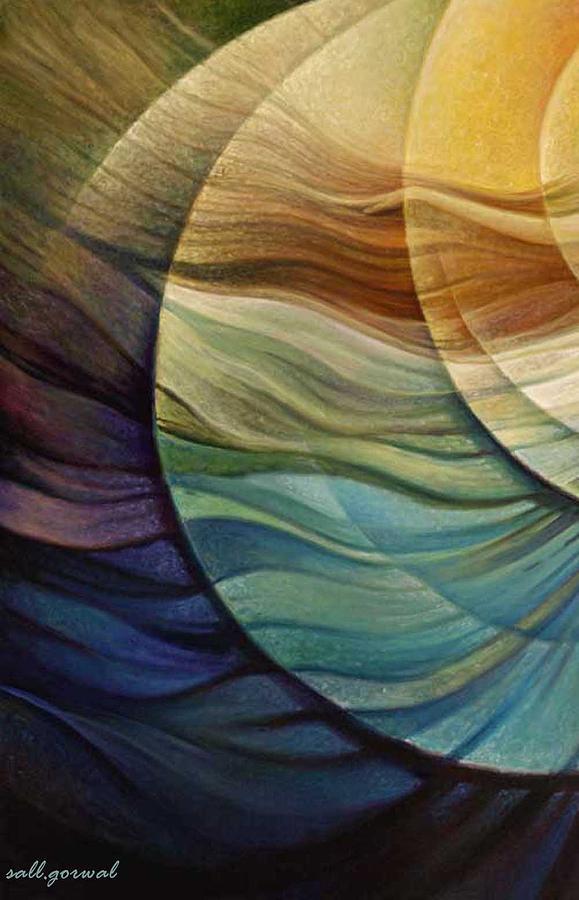 Abstract Painting - Blowing Spirit by Salim Ahmad Gorwal