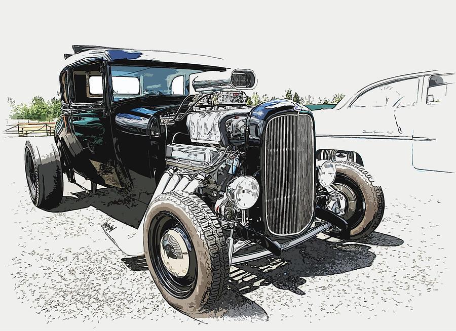 Hot Rod Photograph - Blown Coupe by Steve McKinzie