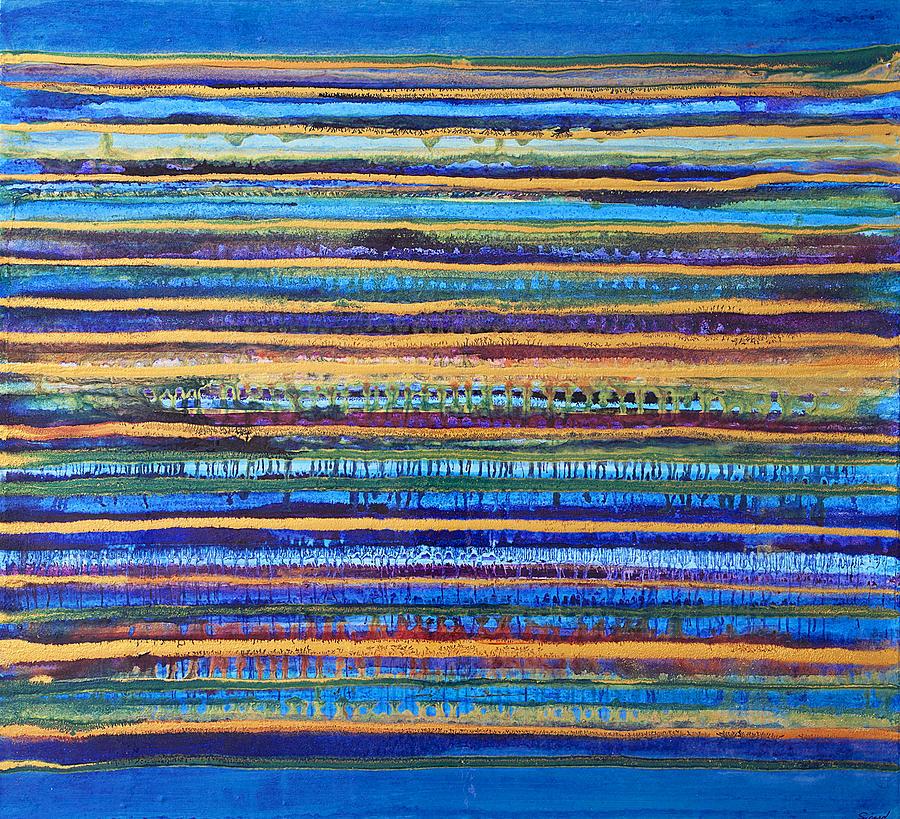 Bleu Painting - Blu Panorama by Natalie Sicard