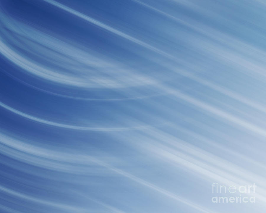 Blue Photograph - Blue And White Linear Background by Blink Images