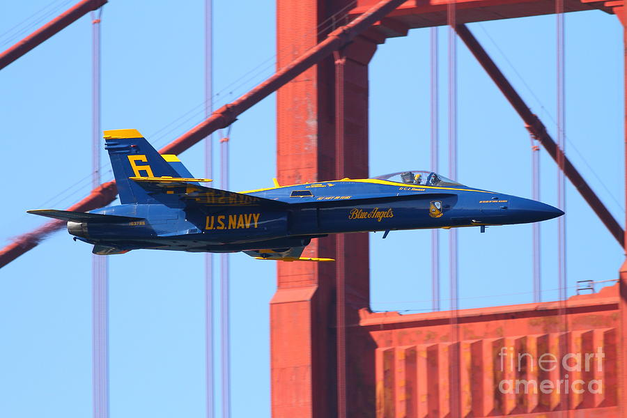 Blue Angels Photograph - Blue Angels F-18 Super Hornet . 7d8055 by Wingsdomain Art and Photography