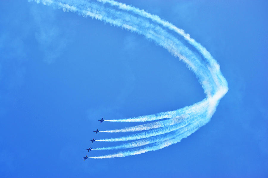 Jets Photograph - Blue Angels by Kelly Reber