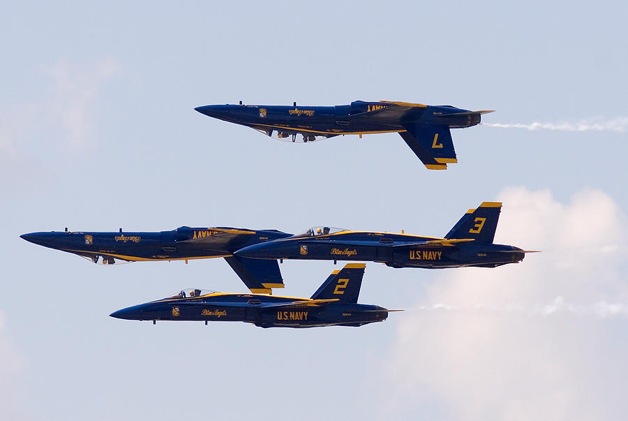 Blue Angels Photograph by Zannie B