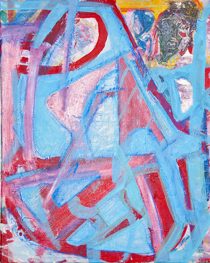 Abstract Painting - Blue Bin  by Brooks Blackwood